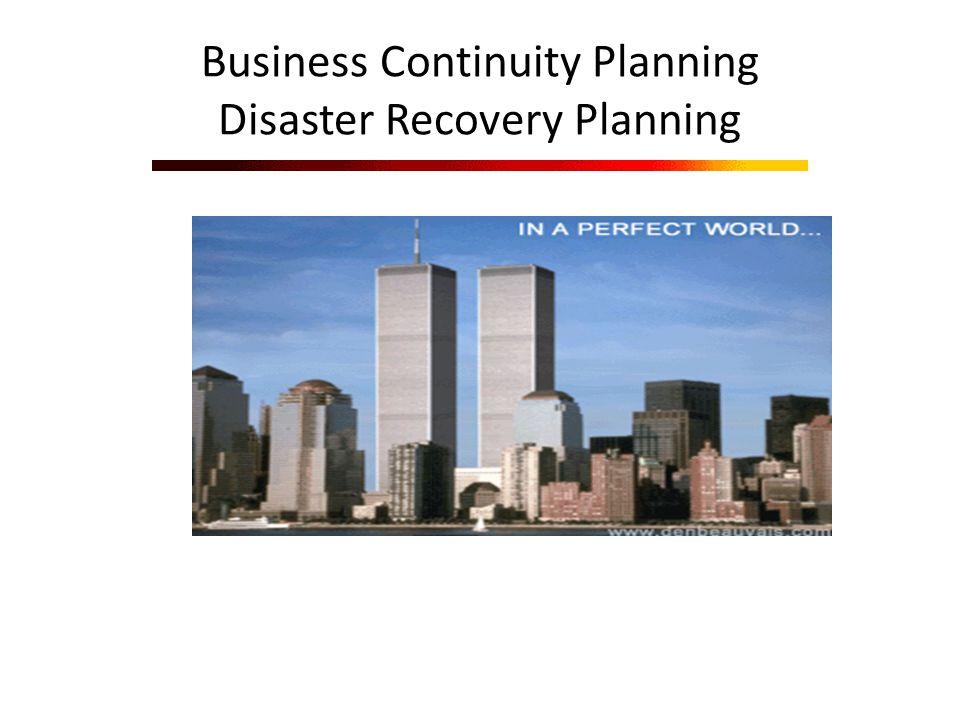 BCP and DRP Business Continuity Planning and Disaster Recovery : melibatkan usaha persiapan testing dan peremajaan(update) yang dibutuhkan untuk melindungi proses bisnis yang paling penting.