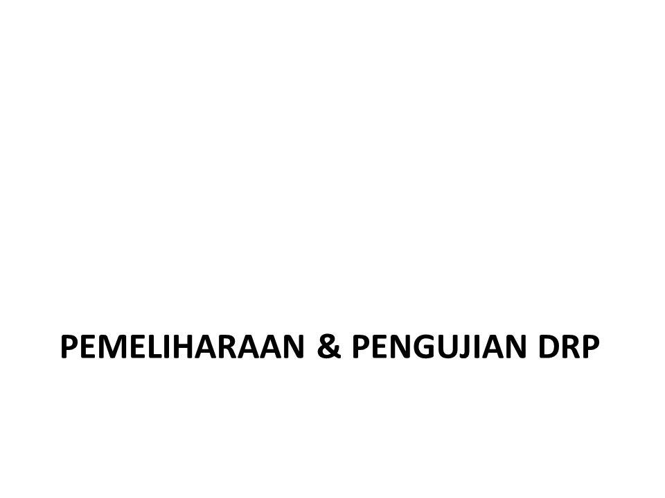 PEMELIHARAAN & PENGUJIAN DRP