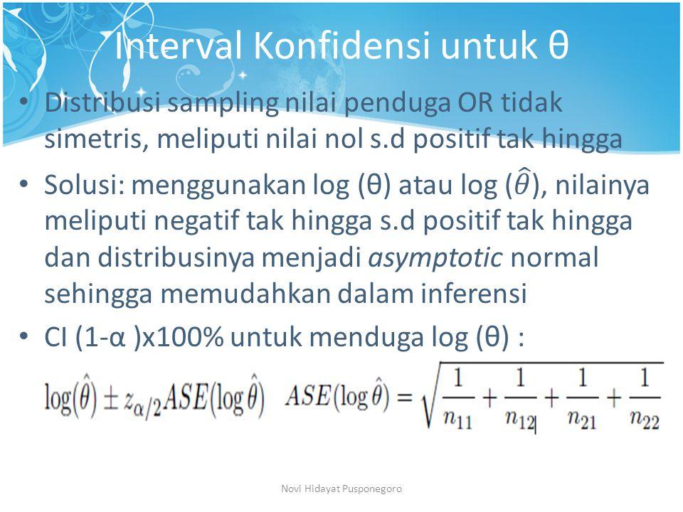 Interval Konfidensi untuk θ Novi Hidayat Pusponegoro