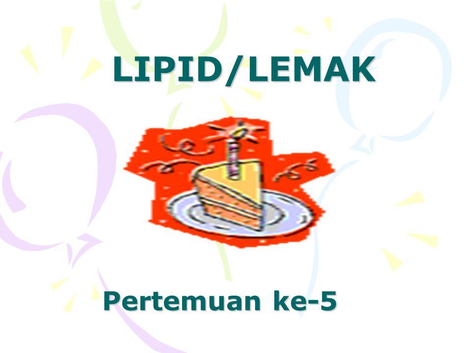 Lipoprotein Adl alat angkut lipida Terdiri dari 4 jenis : kilomikron, low density lipoprotein (LDL), very low density lipoprotein (VLDL), high density lipoprotein (HDL).
