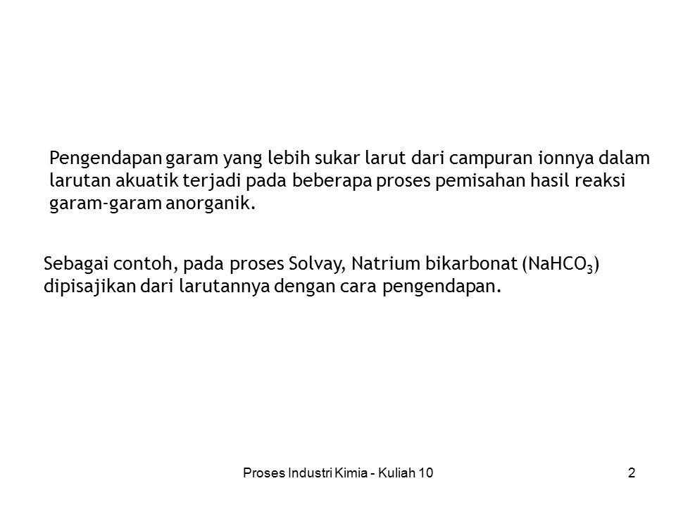 Proses Industri Kimia - Kuliah 1013 Analisa aturan fasa Gambar 3.