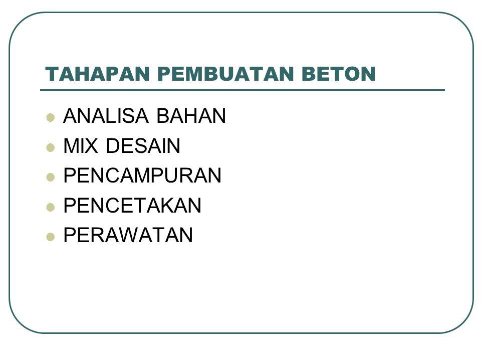 MATERIAL PENYUSUN BETON BAHAN PEMBENTUK BETON 1.AGREGAT HALUS 2.