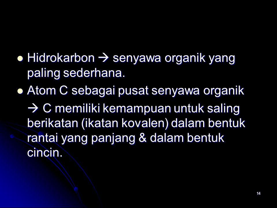 14 Hidrokarbon  senyawa organik yang paling sederhana.