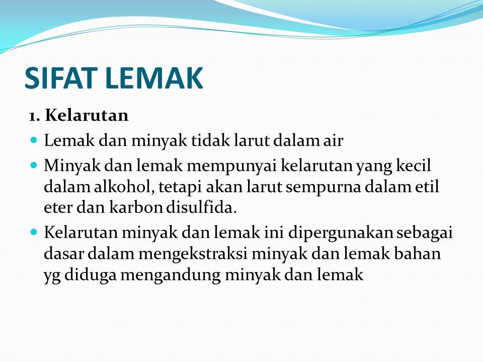 SIFAT LEMAK 1.