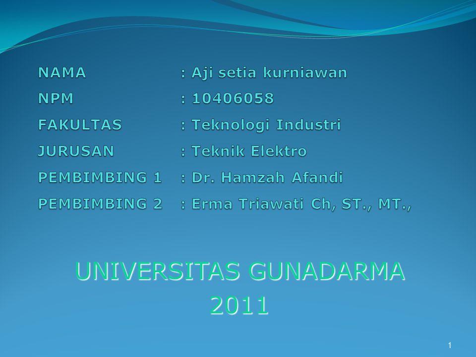 UNIVERSITAS GUNADARMA 2011 1