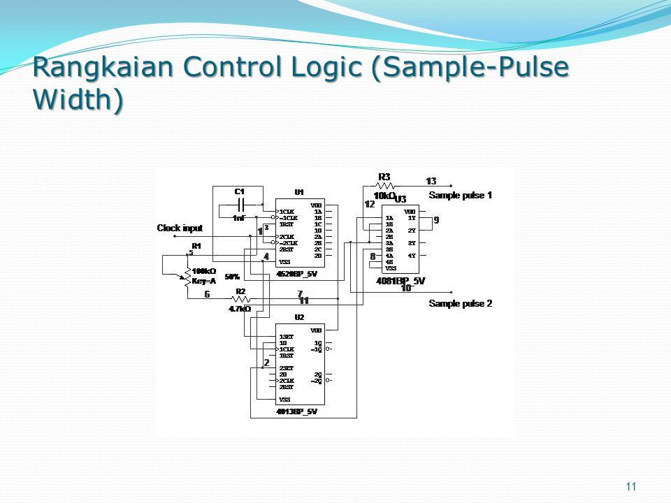 Rangkaian Control Logic (Sample-Pulse Width) 11
