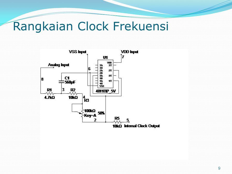 Rangkaian Clock Frekuensi 9