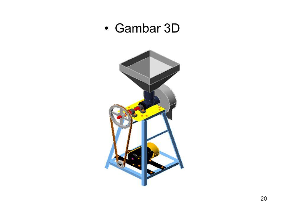20 Gambar 3D