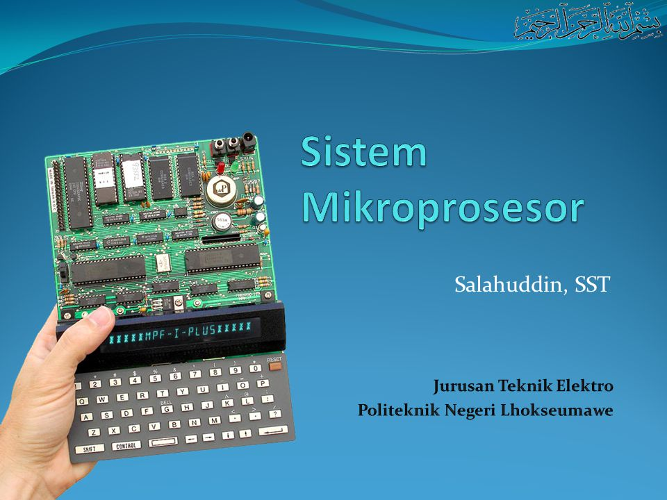 Arsitektur Mikroposesor Akan dibahas : 1.Arsitektur mikroprosesor secara umum.