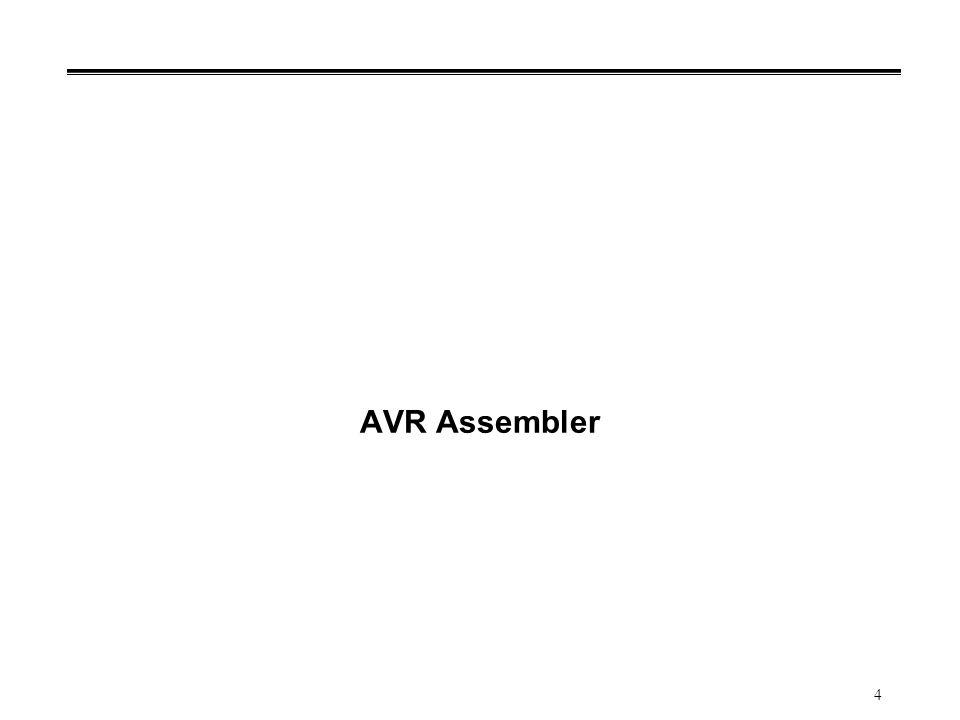 5 Bahasa Rakitan AVR °Komputer (rangkaian dijital) hanya mengerti instruksi mesin °Assembly code: representasi tekstual (mudah dibaca oleh manusia) dari instruksi mesin Setiap instruksi mesin (instruction sets) terdapat korespondensi assembly code Kode tersebut: simbol dari operasi instruksi mesin Bahasa rakitan (assembly language): cara pemrograman menggunakan assembly code (terdapat banyak bantuan untuk memudahkan penulisan program).