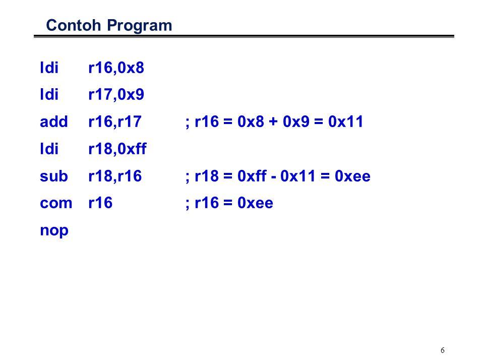 7 AVR Assembler: Kompilasi Program