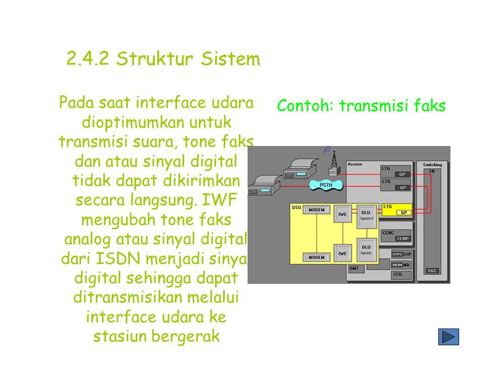 Keterengan: 2 jalur 4096Kbit/s untuk transmisi informasi yang sering digunakan 2 kontrol jalur 136 Kbit/s untuk transmisi kontrol data PDC trunk Jalur modem analog dan digital 2.4.2 Struktur Sistem