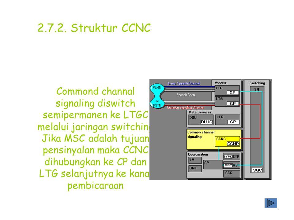 CCS no.7 didasarkan pada standart CCITT dalam pensinyalan melalui commond channal signaling antar sentral untuk vendor yang berbeda. Sistem ini menggu