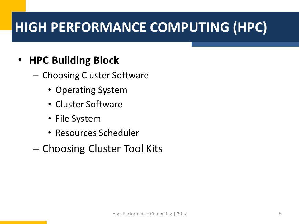 Bentuk High Performance Computing 1.Cluster 2.Supercomputer 3.Cloud Computing 4.Grid Computing 6High Performance Computing   2012