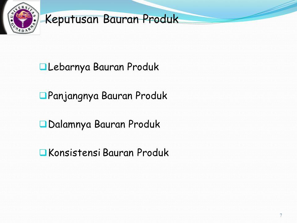 Pemasaran Produk dan Jasa Internasional  Bauran produk  Lini produk  Pemilihan merk  Pengemasan  Strategi pelayanan 8