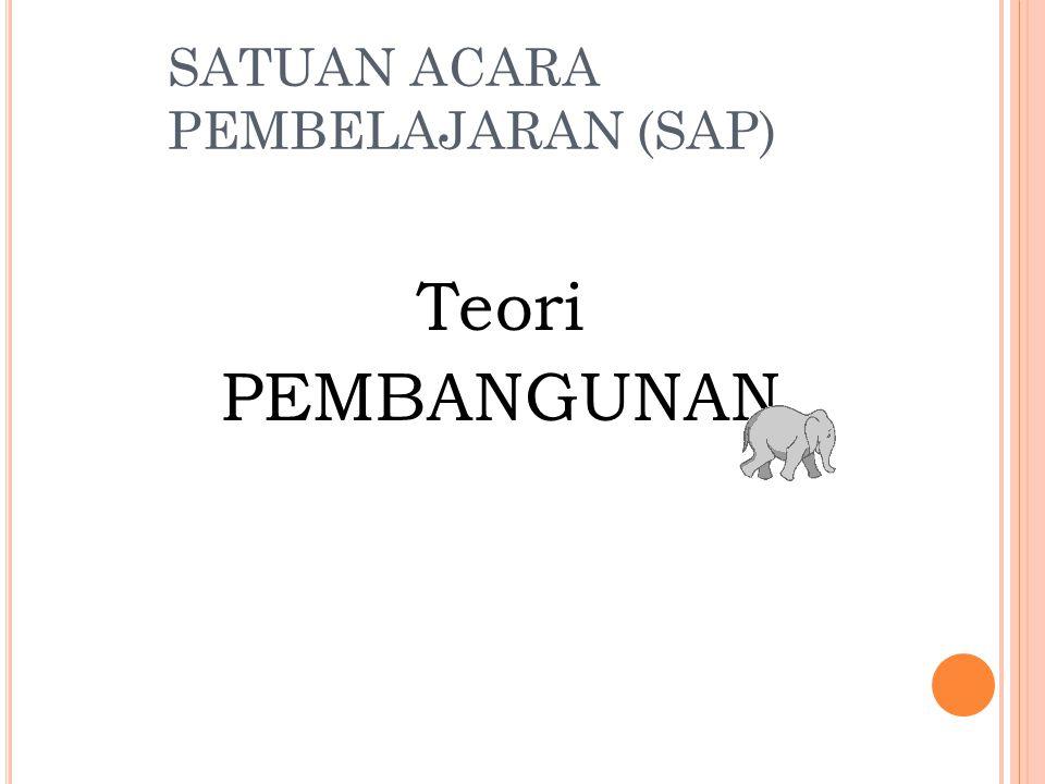 SATUAN ACARA PEMBELAJARAN (SAP) Teori PEMBANGUNAN