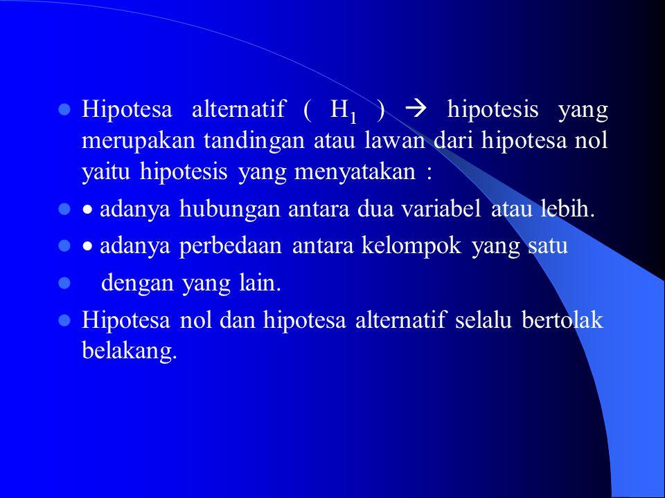  Uji sifat homogenitas (Test of Homogenity) Untuk mengetahui apakah beberapa sampel mempunyai persamaan atau tidak.