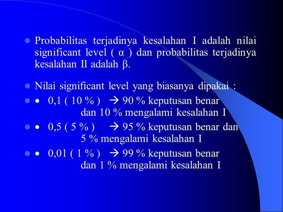 C.Statistik Uji Berdasar Rata-Rata a.