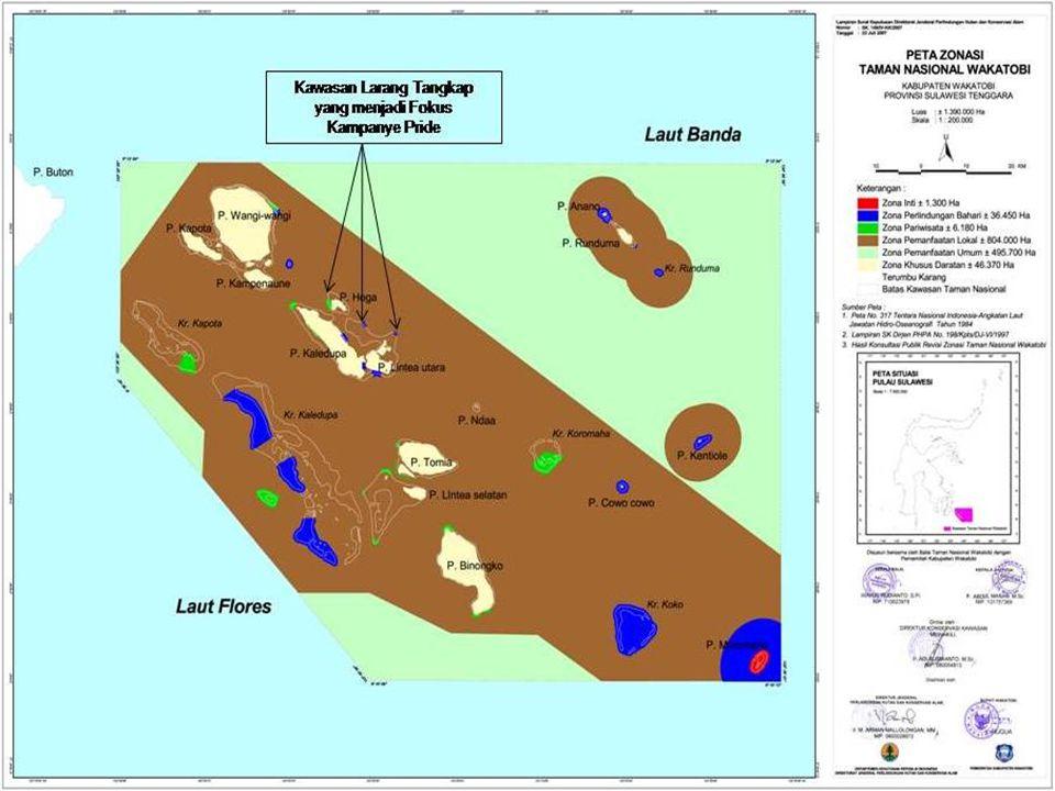 LATAR BELAKANG  Zonasi sebagai sistem pengelolaan Taman Nasional PERMASALAAN  Adanya fenomena penangkapan ikan berlebihan (overfishing) di kawasan T