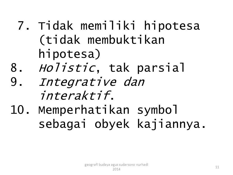 7. Tidak memiliki hipotesa (tidak membuktikan hipotesa) 8.