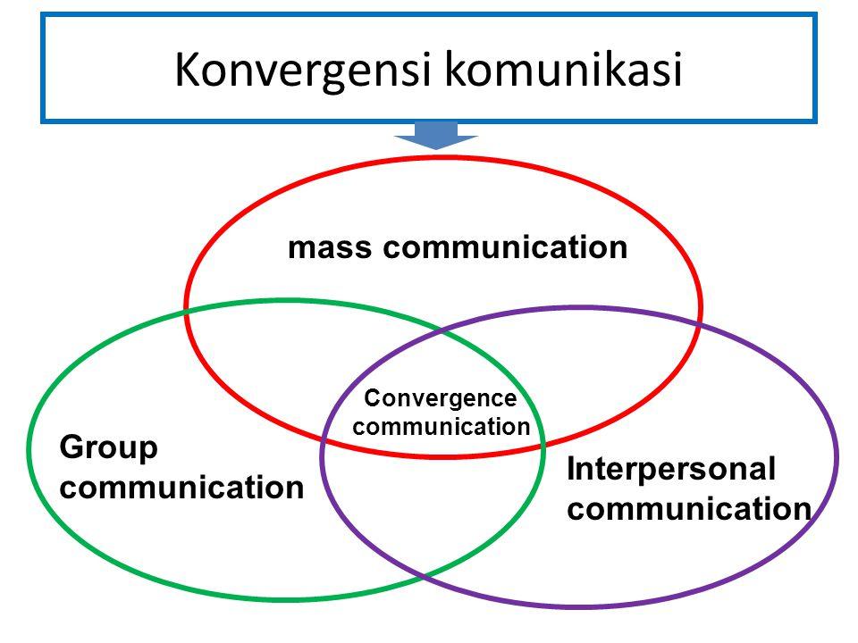Konvergensi komunikasi mass communication Group communication Interpersonal communication Convergence communication