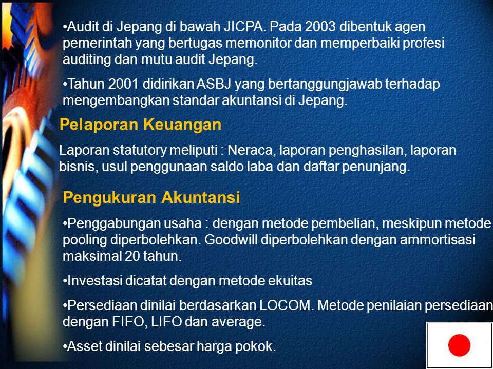 Audit di Jepang di bawah JICPA.