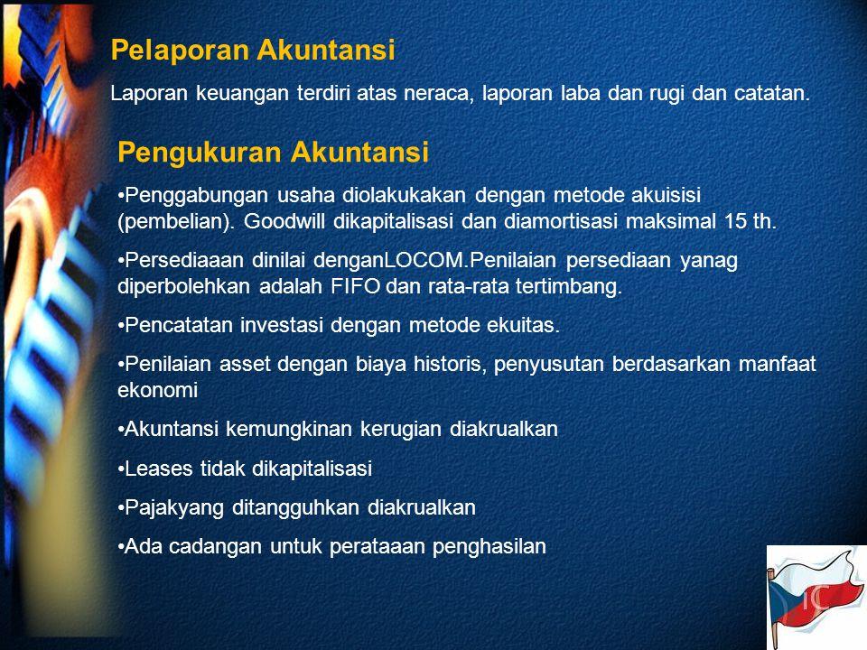 Pelaporan Akuntansi Laporan keuangan terdiri atas neraca, laporan laba dan rugi dan catatan.
