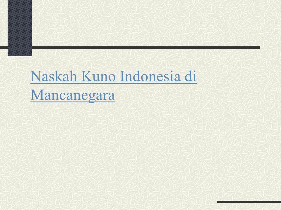 Naskah Kuno Indonesia di Mancanegara