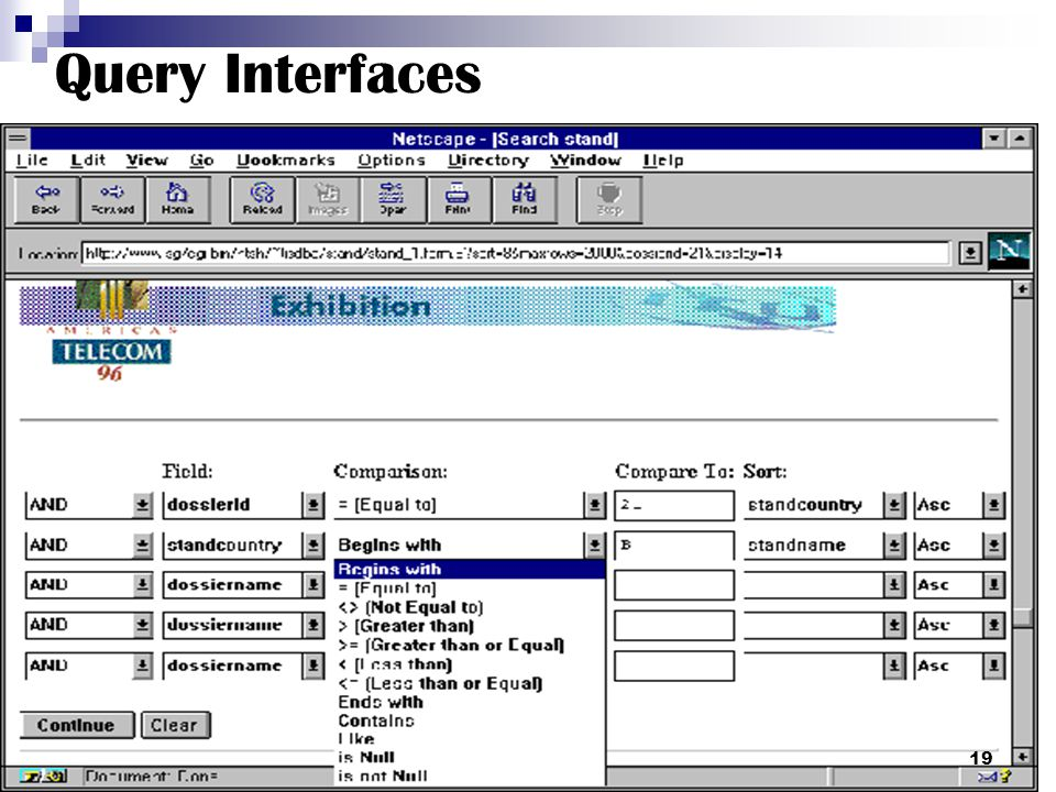 Query Interfaces 19