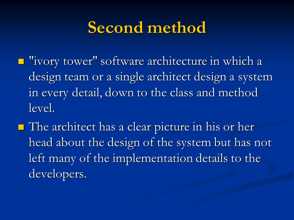Second method