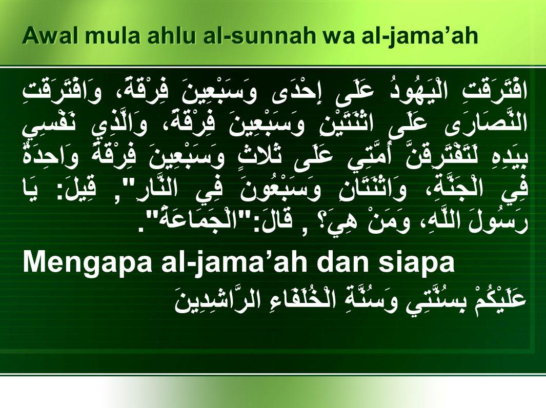Nilai-Nilai Ahl al-Sunnah wa al-Jamaah Tasamuh Thoriq al-Wustho Komprehensif Elastis atau kontekstual serta aktual Kembali kepada al-Qur'an dan hadits, serta ulama-ulama salaf Membuka pintu ijtihad, secara jam'i.