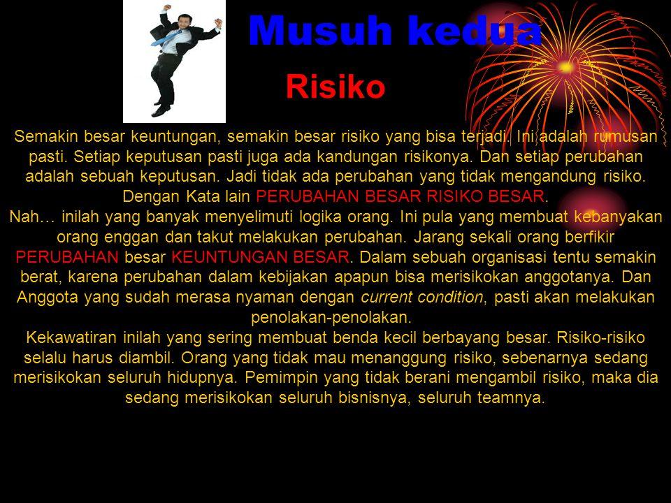 Risiko Semakin besar keuntungan, semakin besar risiko yang bisa terjadi.