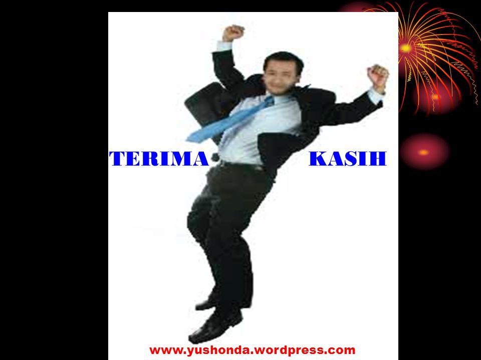 TERIMA KASIH www.yushonda.wordpress.com