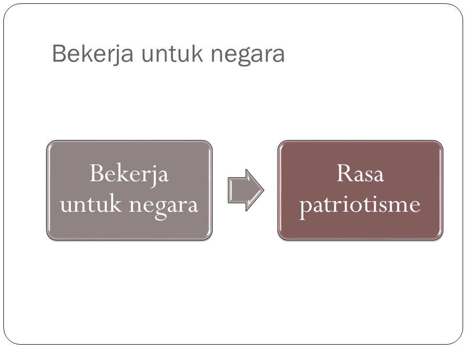 Bekerja untuk negara Rasa patriotisme