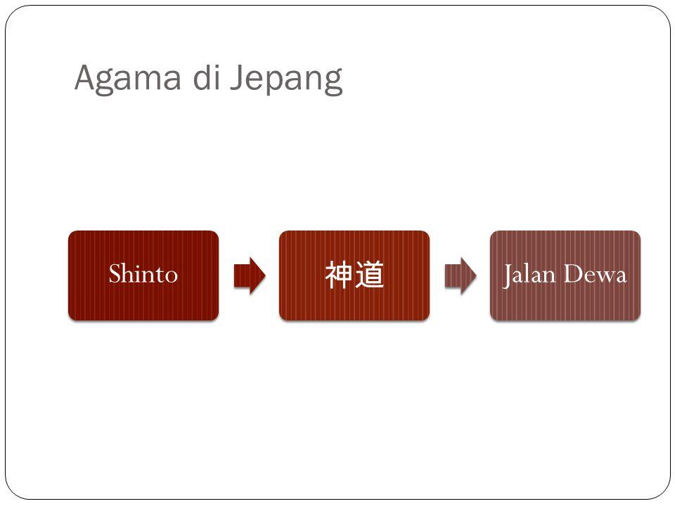 Agama di Jepang Shinto 神道 Jalan Dewa