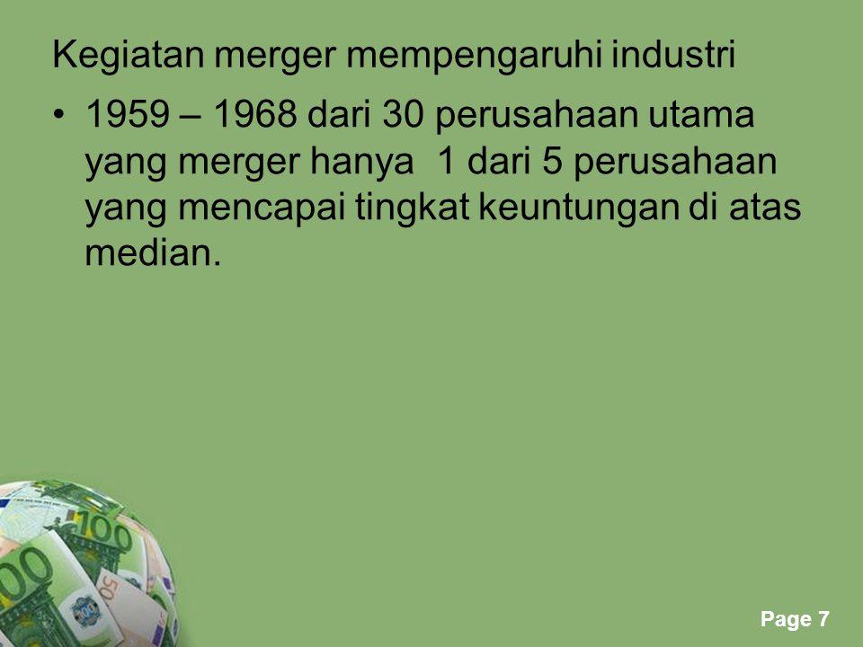 Powerpoint Templates Page 8 Indonesia: Oktober 1989 terdapat 11 kelompok perusahaan konglomerat: - Salim grup 301 perusahaan.