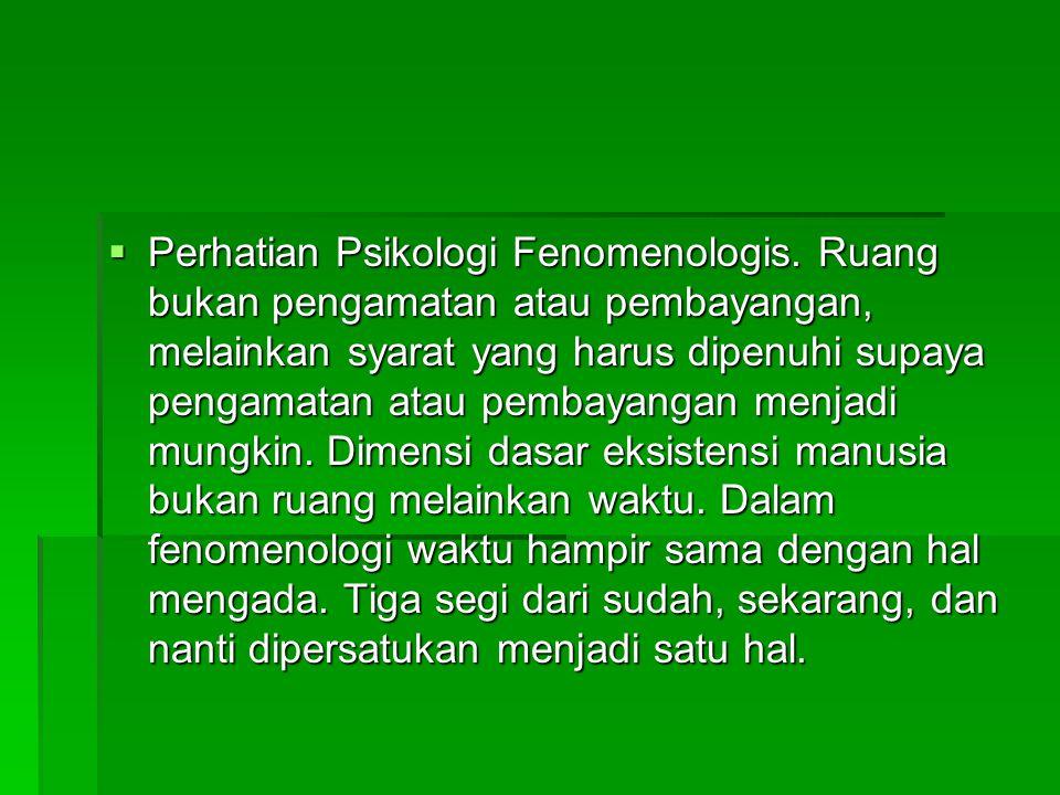  Perhatian Psikologi Fenomenologis.