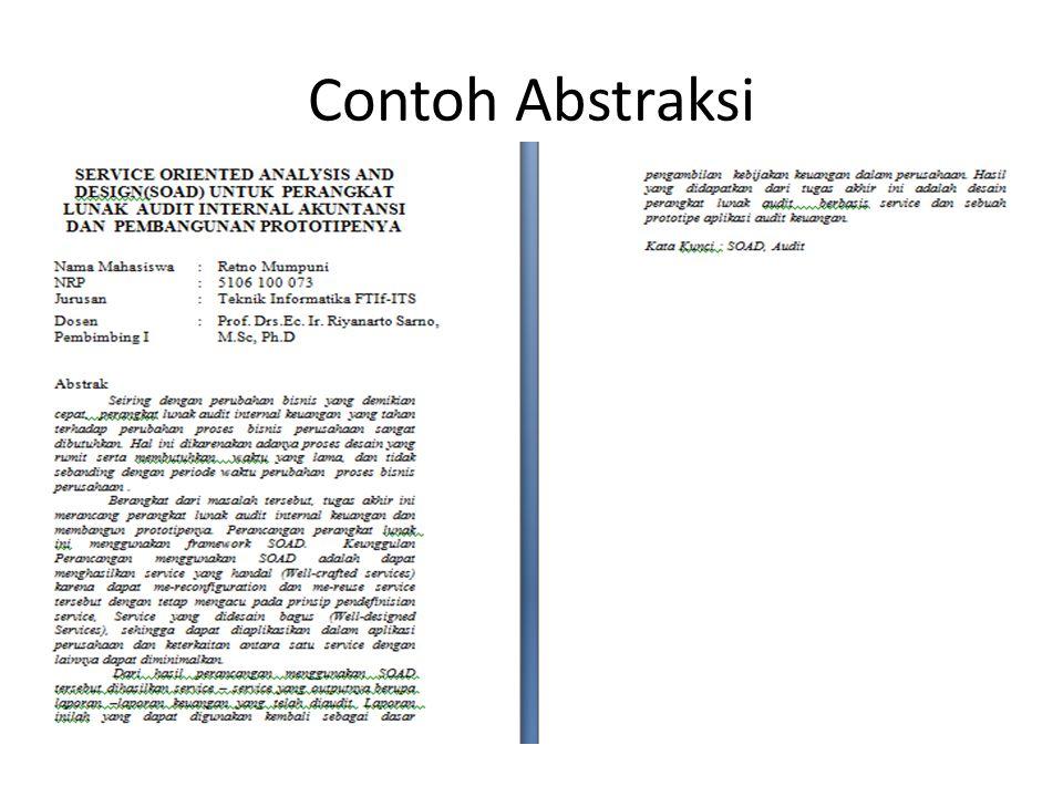 Contoh Abstraksi