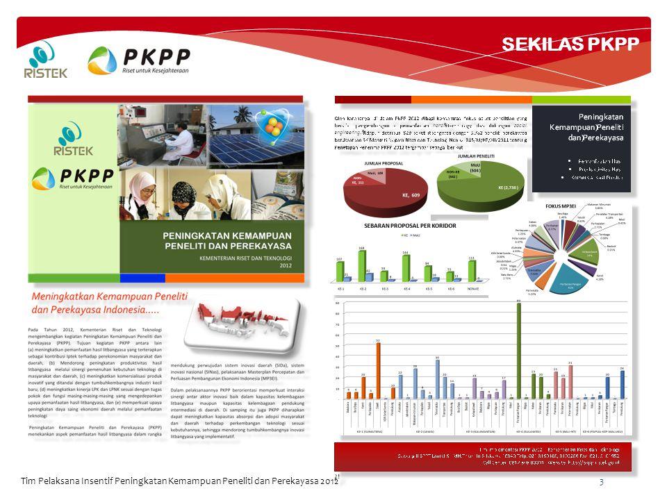 SEKILAS PKPP Tim Pelaksana Insentif Peningkatan Kemampuan Peneliti dan Perekayasa 2012 3