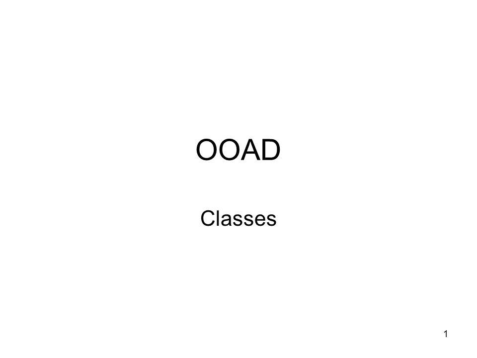 1 OOAD Classes