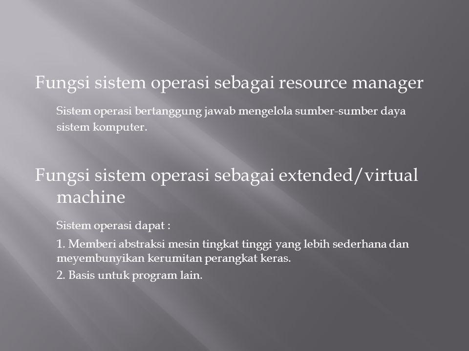 Komponen manajemen proses merupakan sentral dari sistem operasi dan menggunakan seluruh komponen manajemen lainnya.
