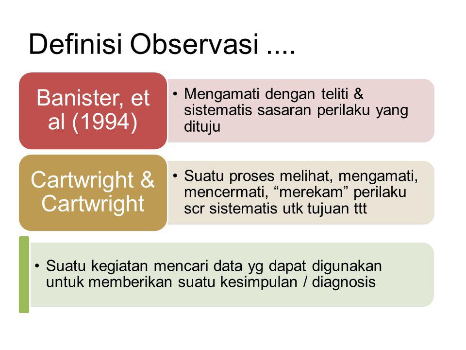Definisi Observasi....