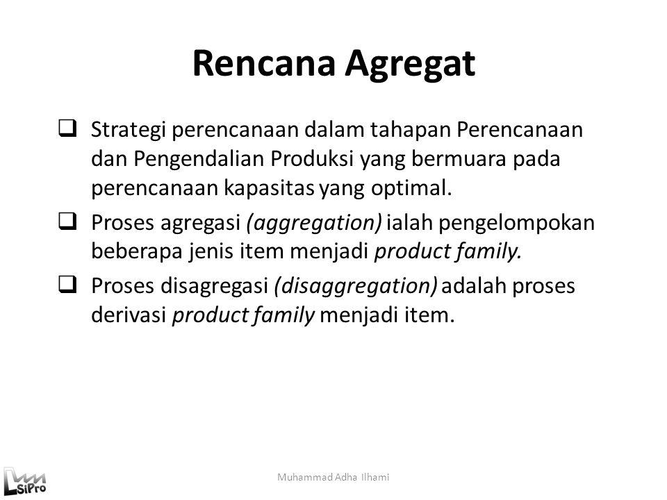 Rencana Agregat Muhammad Adha Ilhami  Strategi perencanaan dalam tahapan Perencanaan dan Pengendalian Produksi yang bermuara pada perencanaan kapasit