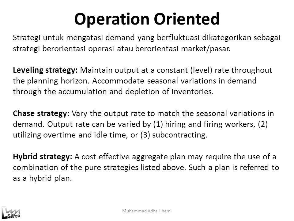 Operation Oriented Muhammad Adha Ilhami Strategi untuk mengatasi demand yang berfluktuasi dikategorikan sebagai strategi berorientasi operasi atau ber