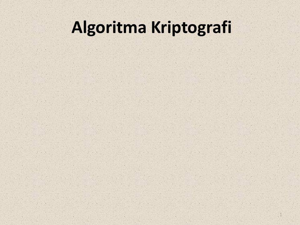 Algoritma Kriptografi 1
