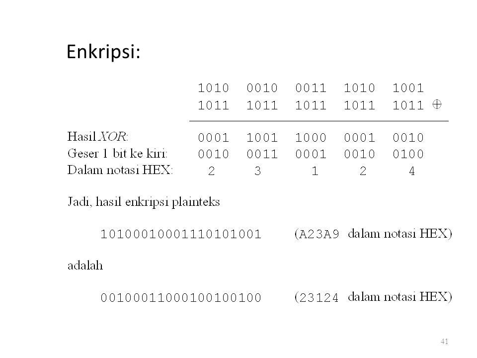 Enkripsi: 41