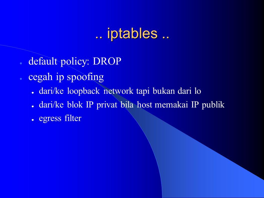 .. iptables..