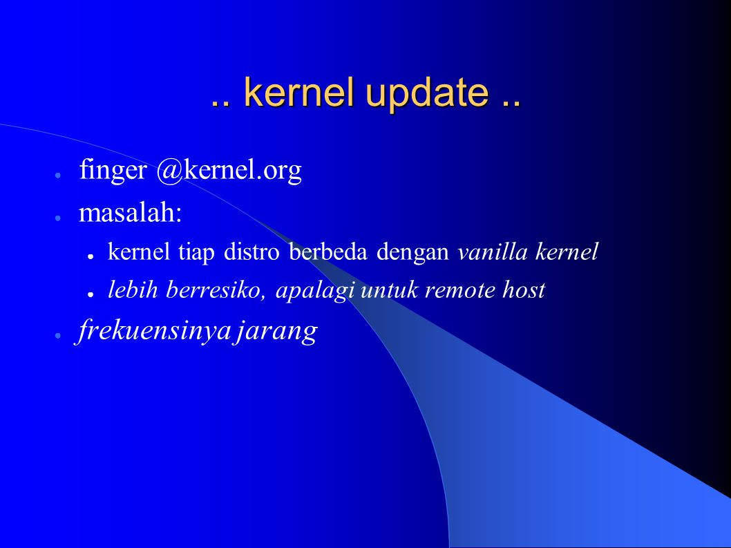 .. kernel update..