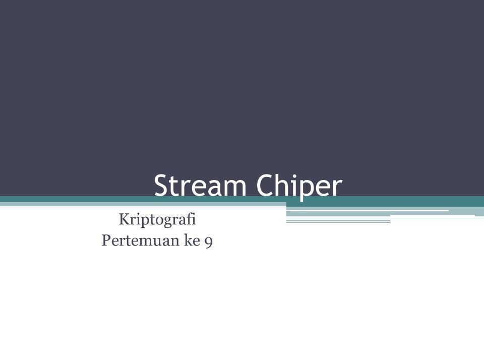 Stream Chiper Kriptografi Pertemuan ke 9