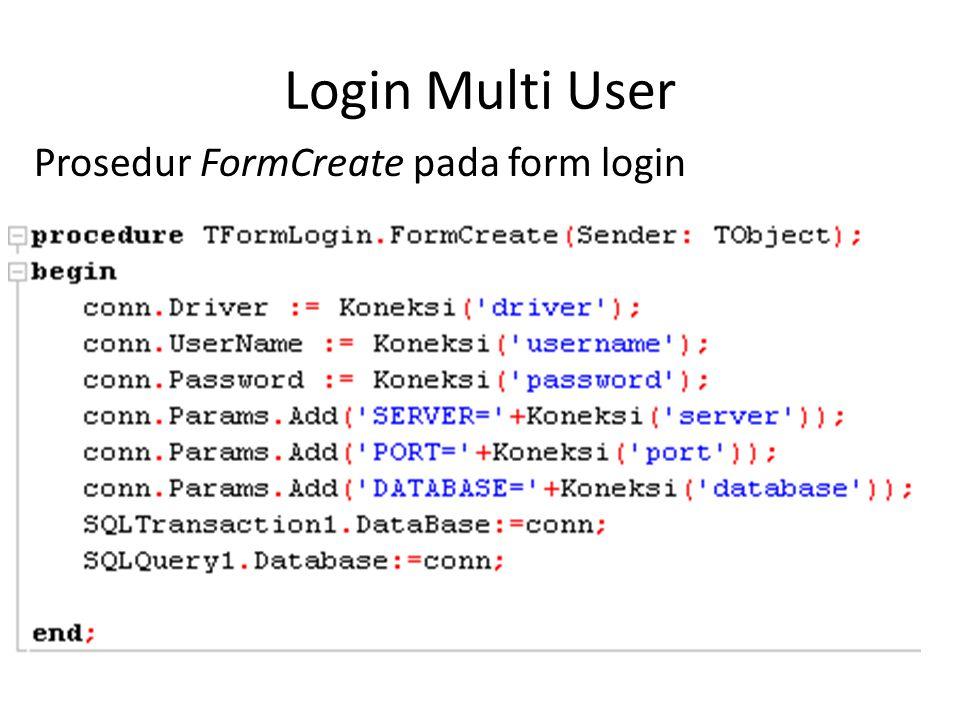 Modifikasi Prosedur LoginClick pada form login